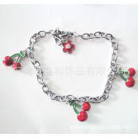 2014年可爱水果挂件DIY饰品手链 金属合金手链
