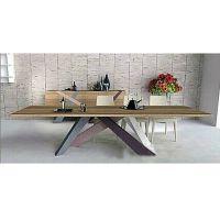 定做美式乡村时尚创意餐桌复古做旧桌脚拼接实木桌子办公会议批发