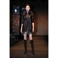 卡索风格女式皮衣,轻奢女装,高档皮衣,oubasil罗勒女装