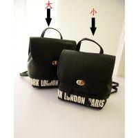 2014 女包批发 新款韩版双肩包 时尚学院风字母双肩背包