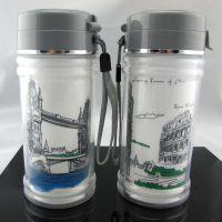 厂家直销 450ml双层保温水杯 便携密封杯防漏塑料水杯 广告促销