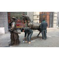 厂家供应北京红星二锅头酒厂前门博物馆铸铜古代人物雕塑