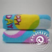 厂家库存字母小清新超柔婚庆礼品毛毯 家庭专用摇粒绒毛毯 可混批