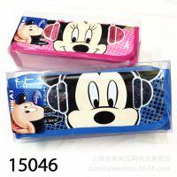 联众文具学生用品 迪士尼米奇 男女生文具袋 笔袋多功能 文具盒