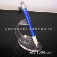 亚克力笔展示架 有机玻璃笔架办公学习透明名片二合一笔架