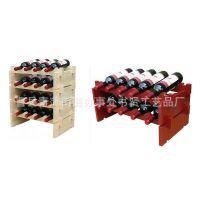 厂家直供实木厨房置物架 多功能创意酒架 定做批发木制红酒展示架