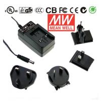 GE12I05-P1J 12W输出可换插头绿色能源明纬墙插电源适配器