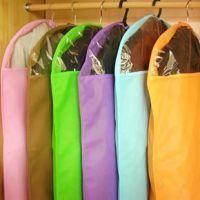淘宝爆款80克加厚西服防尘罩  透明收纳袋 防尘衣服罩糖果色小号