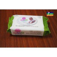 供应晋江工厂直销无香带盖婴儿湿巾纸80抽湿巾,出口湿巾80片