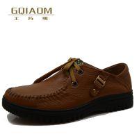 文舜和冬季新款真皮正品男士皮鞋 商务休闲皮鞋 英伦手工鞋