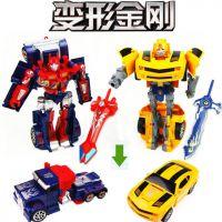 【***火爆的动漫玩具】擎天柱/大黄蜂变形金刚 变形模型玩具