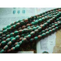 高仿宝石 10*14mm  人造绿松石米珠串珠 时光宝石DIY饰品配件