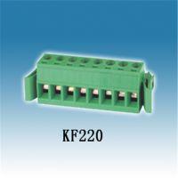 供应PCB接线端子KF220 插拔式 两边带固定夹 绿色环保