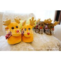 圣诞节 小鹿 麋鹿情侣 家居拖鞋室内地板拖鞋 包跟 棉拖鞋防水