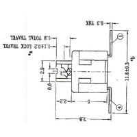 TT-DR-PB22E65CNP-00  .按键开关可以要求力度多少100g-500g