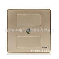 正泰 开关/插座 闭路/电视插座 NEW6D香槟 NEW6-D201/X
