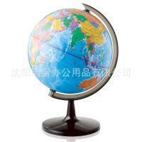 得力3035地球仪 全塑地球仪高清 标准教学 中英地形直径32cm