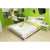 先驱家居-七彩屋儿童床1.5米床 绿色板式床