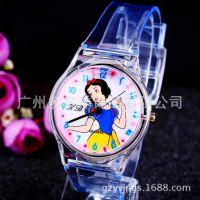 韩版时尚透明塑胶手表 白雪公主卡通儿童手表批发171704