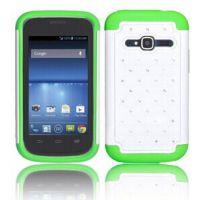 热卖 ZTE Concord II手机壳,  喷漆镶钻 三合一满天星手机壳批发