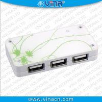 工厂直销 4口 USB  USB 2.0 高速度 亚克力镜面 礼品促销