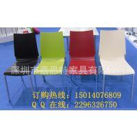 新款上市 ABS塑料椅 PP环保塑胶椅 西餐厅餐椅