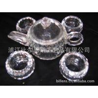 水晶茶壶水晶茶杯【水晶餐具 酒店餐具用品】实拍 浦江水晶 礼品