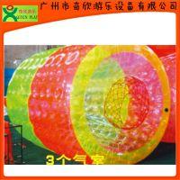 厂家直销水上步行球 水上滚筒 水上透明球 水上运动设备
