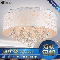 客厅吸顶灯圆形水晶 简约led吸顶灯 卧室现代水晶吸顶灯