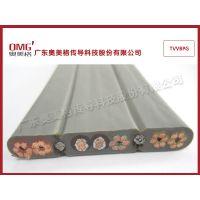 钢丝屏蔽电梯扁电缆TVVBPG/湖南电梯随行电缆