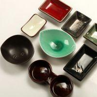外贸原单出口 库存家居尾单 日式陶瓷味碟 酱料碟 陶瓷餐具 L-52