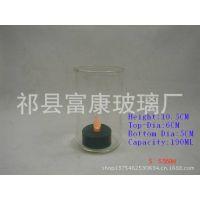 特价优惠供应 厂家直销 高硼硅玻璃烛杯,耐热,可用于灌蜡,家居