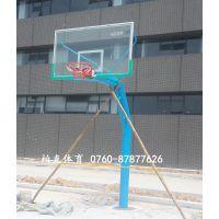学校篮球架 珠海学校篮球架价格 透明板固定式球架安全牢固