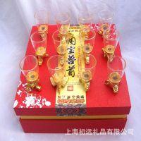 线下热销 国宝兽首十二生肖玉酒杯 玻璃酒杯 白酒杯 商务会销礼品