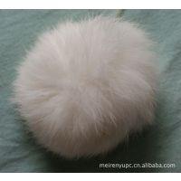 批发皮草毛球水貂球水貂花兔毛球挂件本色毛球