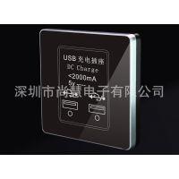 广东开关面板 USB充电插座 进口轻触开关  墙壁开关厂家