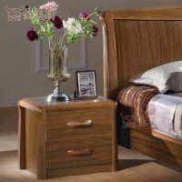佛山金美斯现代中式虎斑木实木床头柜M1302