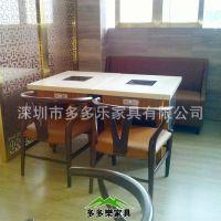 深圳低价 大理石防火板火锅桌 色酒店餐厅石英石餐桌 厂家定制