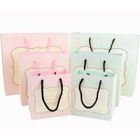 韩版 清新条纹 手提袋 手提纸袋 礼品袋 回礼袋 包装袋子 S03