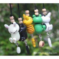 木制玩具 木制挂件 和风系列杂物 木质手机挂件 动物挂件