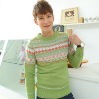 秋季韩国男式毛衣 直销 淘宝代发 韩版修身毛衣 男装针织毛衫
