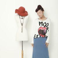 吃草莓MISS印花 短款宽松口袋T恤 罩衫 莫代尔 3色 短袖