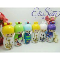 日本娃娃陶瓷彩绘萌系玻璃香水瓶化妆品小样瓶子空瓶PT081A-20ML