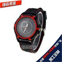 速卖通 ebay热卖男士时尚运动硅胶手表,车线防水环保硅胶礼品表
