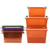 中平家居塑料收纳箱 中号(16L)高品质家用多色有盖储物整理箱