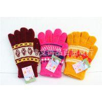 男士女士手套 毛线加绒手套 冬季保暖手套 男女五指手套