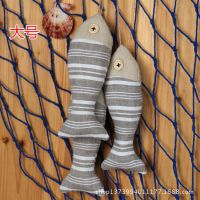 创意手工布艺小鱼串装饰地中海风格挂件墙壁装饰挂饰拍摄道具
