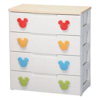 爱丽思 儿童米奇迪士尼四层抽屉柜整理柜收纳柜MHG-724