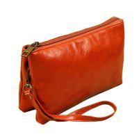 2014秋新款钱包女士软袋手拿包简约复古风油蜡纹女式迷你小挎包包