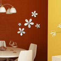 速卖通 EBAY货源 新款花卉亚克力镜面墙贴 创意墙贴 3D立体墙贴
